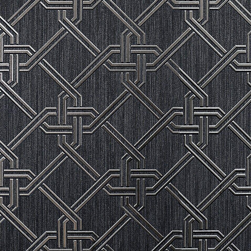 Arthouse Gianni Foil Wallpaper Bed Bath Beyond Black And Silver Wallpaper Silver Wallpaper Vinyl Wallpaper