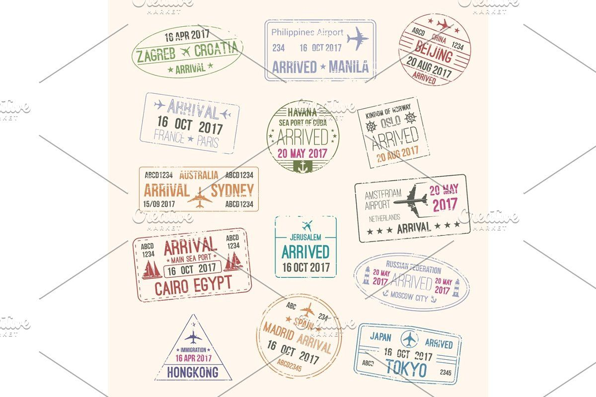 Passport Stamp Of Travel Visa For Tourism Design Passport Stamps Tourism Design Travel Visa