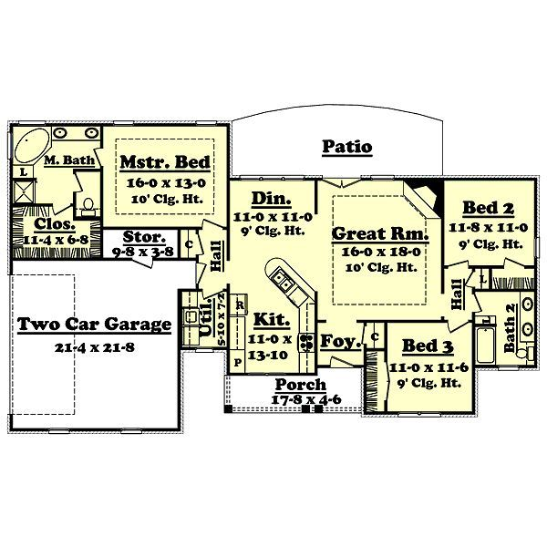 1600 square feet 3 bedrooms 2 batrooms 2 parking space for 1600 sq ft house