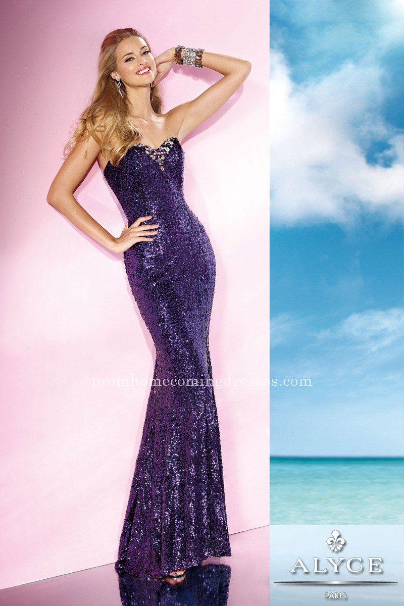 Strapless Long Prom Dress by Alyce Paris 35627 | Mermaid Dresses ...
