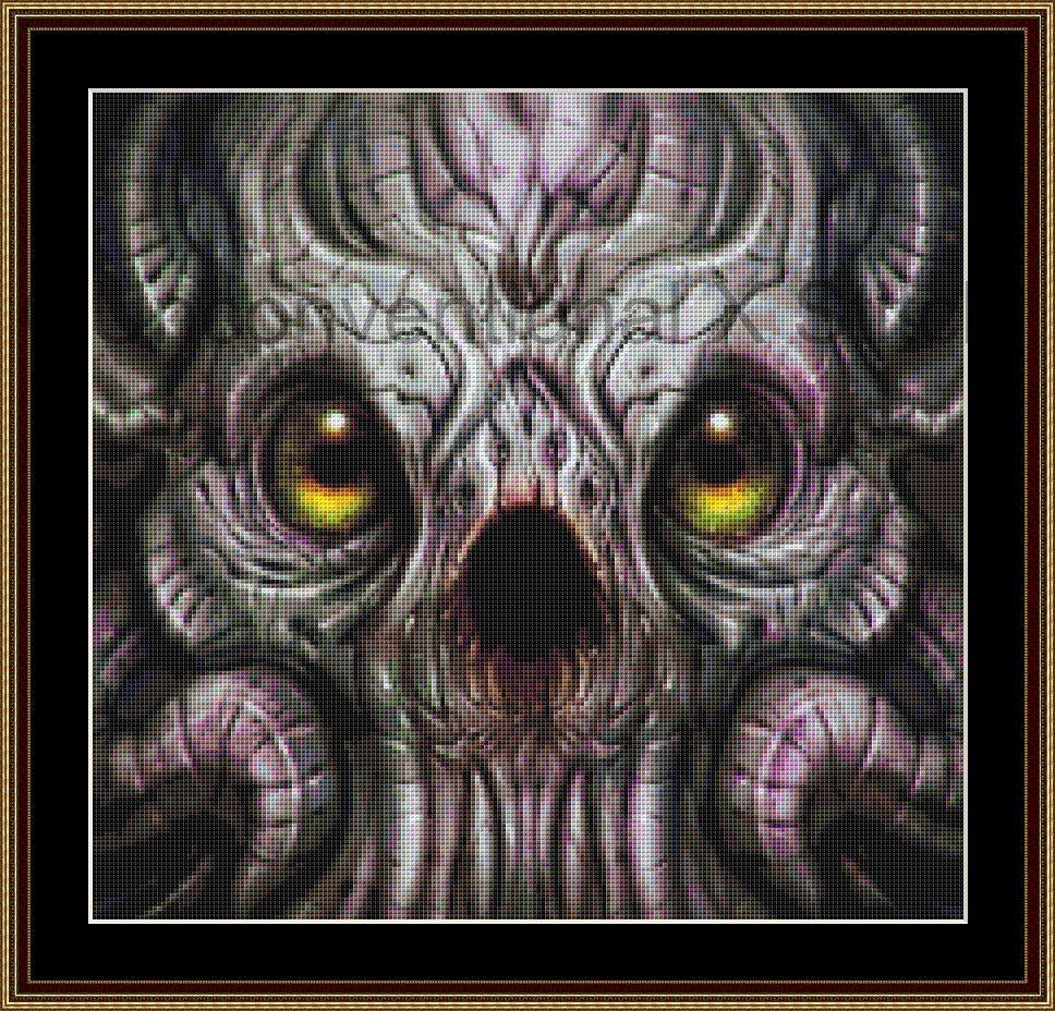 Alien Species cross stitch pattern - modern counted cross stitch pattern by UnconventionalX on Etsy