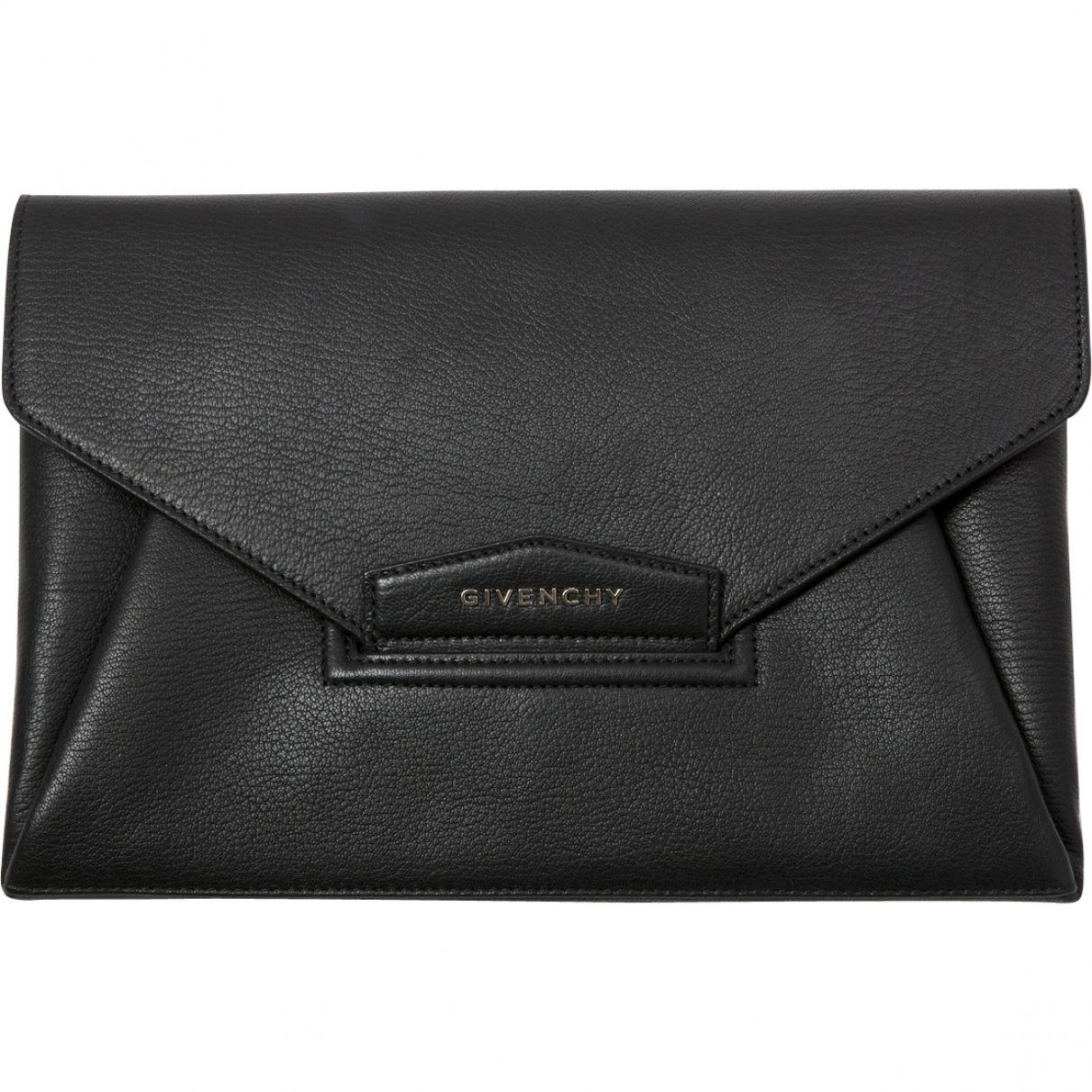 c94627bf6e19 GIVENCHY Black Leather Clutch bag Antigona