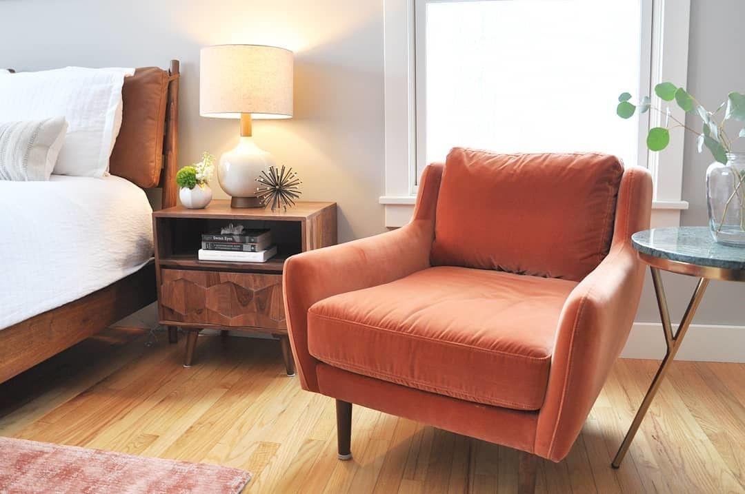 New Work Guest Bedroom In Richmond Vt Interiordesign Interiors Vermon Orange Chairs Living Room Mid Century Modern Lounge Chairs Velvet Chairs Living Room