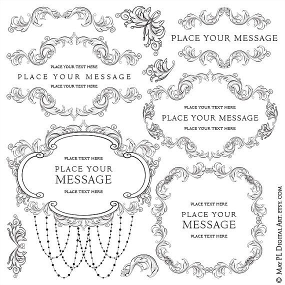Flourish frame clipart acanthus leaves foliage floral border clip flourish frame clipart acanthus leaves foliage floral border clip art chandelier digital graphics wedding business vector png clip art 10308 aloadofball Images