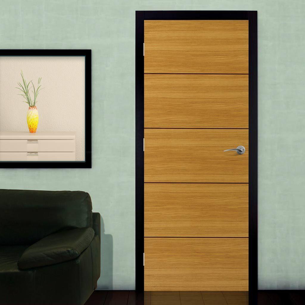 Zodiac Flush Aquarius Door, This Oak Door Has Dark Red Hardwood Feature  Grooves. #prefinishweddoor #internaldoor #oakdoor