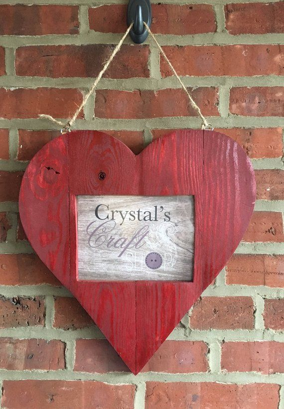 Rustic Picture Frame, Heart Shaped Picture Frame, Unique