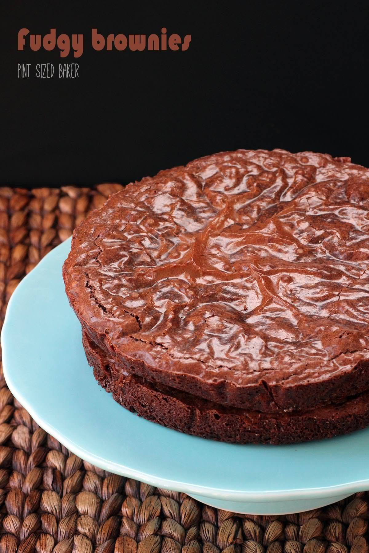 Easy Fudgy Brownie Recipe Made In Round Cake Pans To Add Frosting