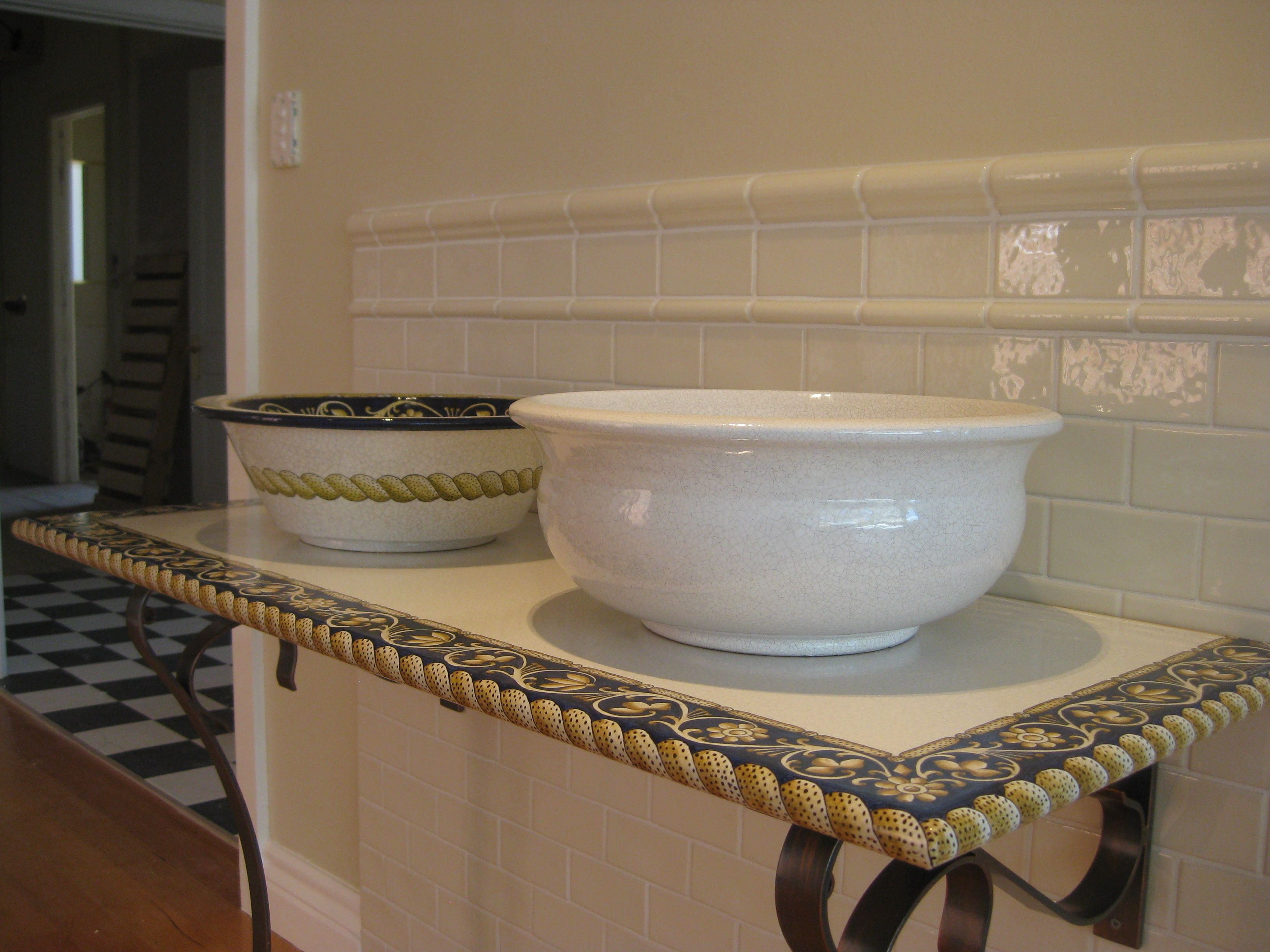 Antique Crackle Tile Dado Capping Cream Haze Shown Here Www