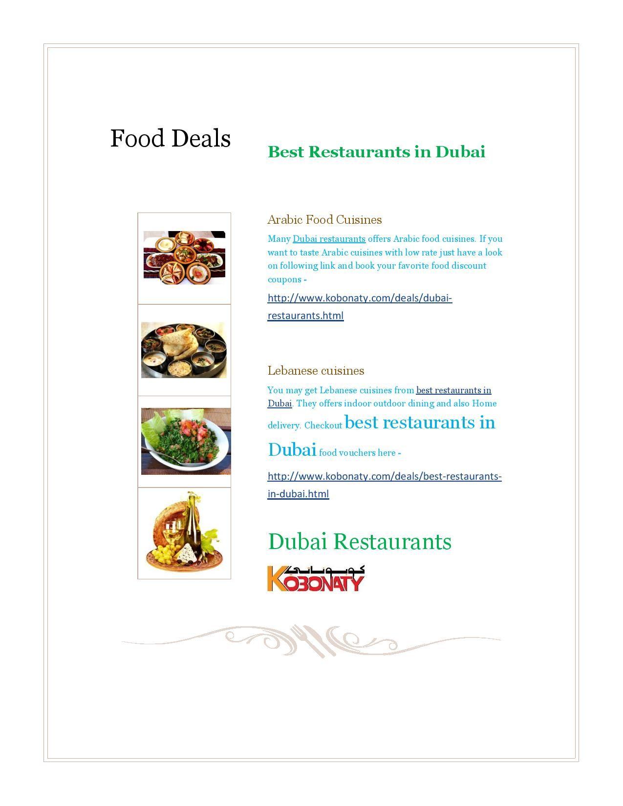 food discount coupons in dubai