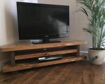 Chunky Rustic Tv Corner Unit Heavy Solid Wood By Newforestrustics Corner Tv Stand Rustic Corner Tv Stands Wood Entertainment Center 55 inch corner tv stand