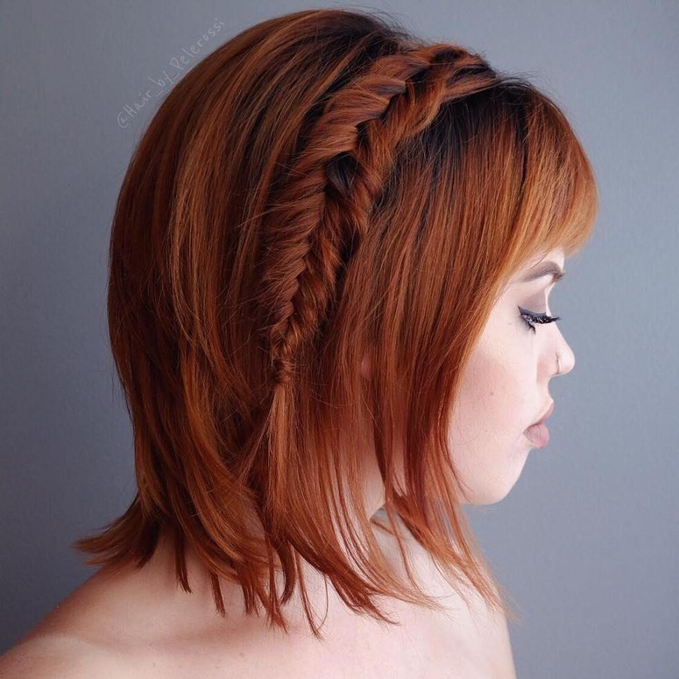 Braids for Short Hair  Newest Ideas  Short hair Side fishtail