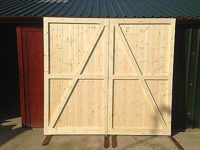 Side Hung Hinged Timber Wooden Garage Door Gates - BARN DOORS ...