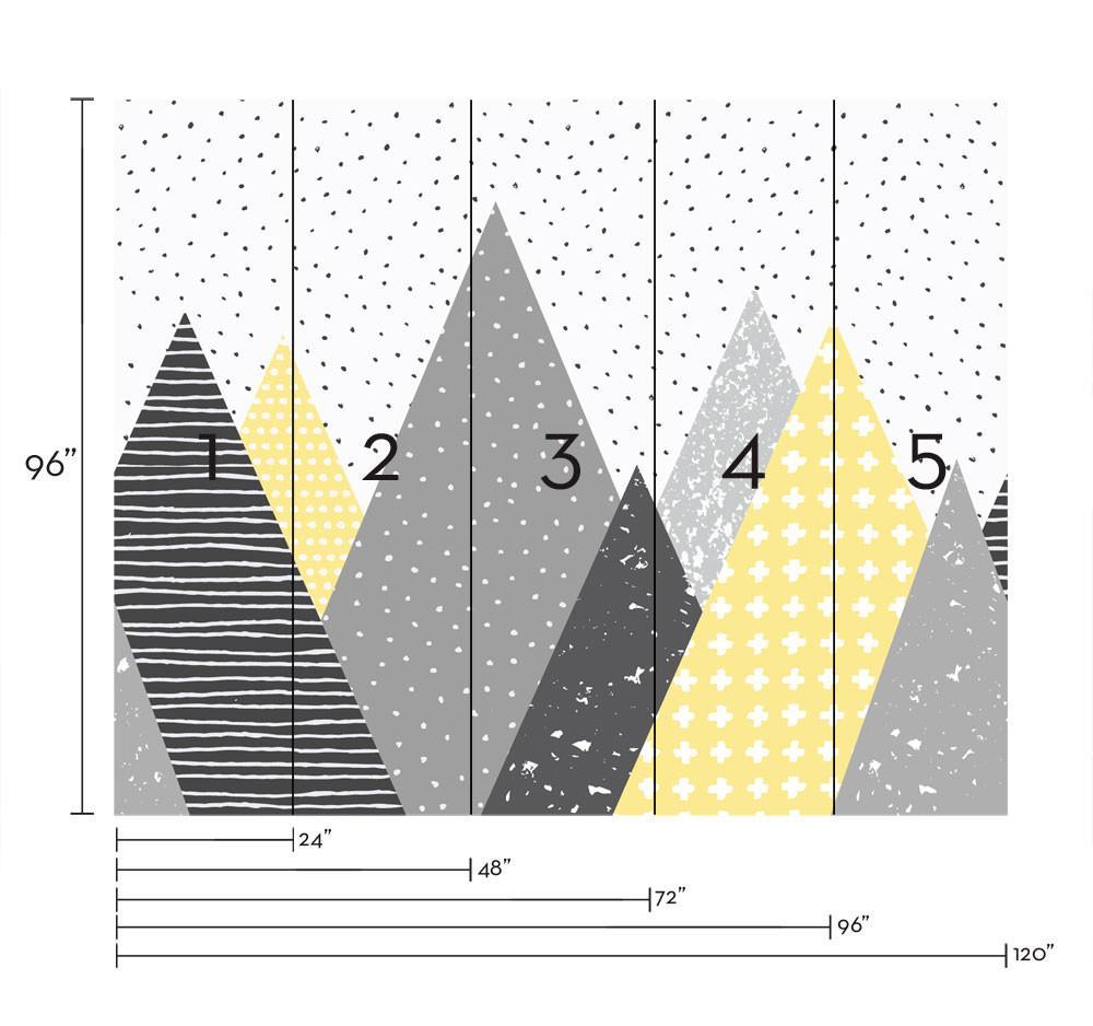 Kids Mountains Wallpaper Peel And Stick Simple Shapes Pintura Descascando Ideias De Decoracao Quarto Infantil Decoracao Quarto Infantil