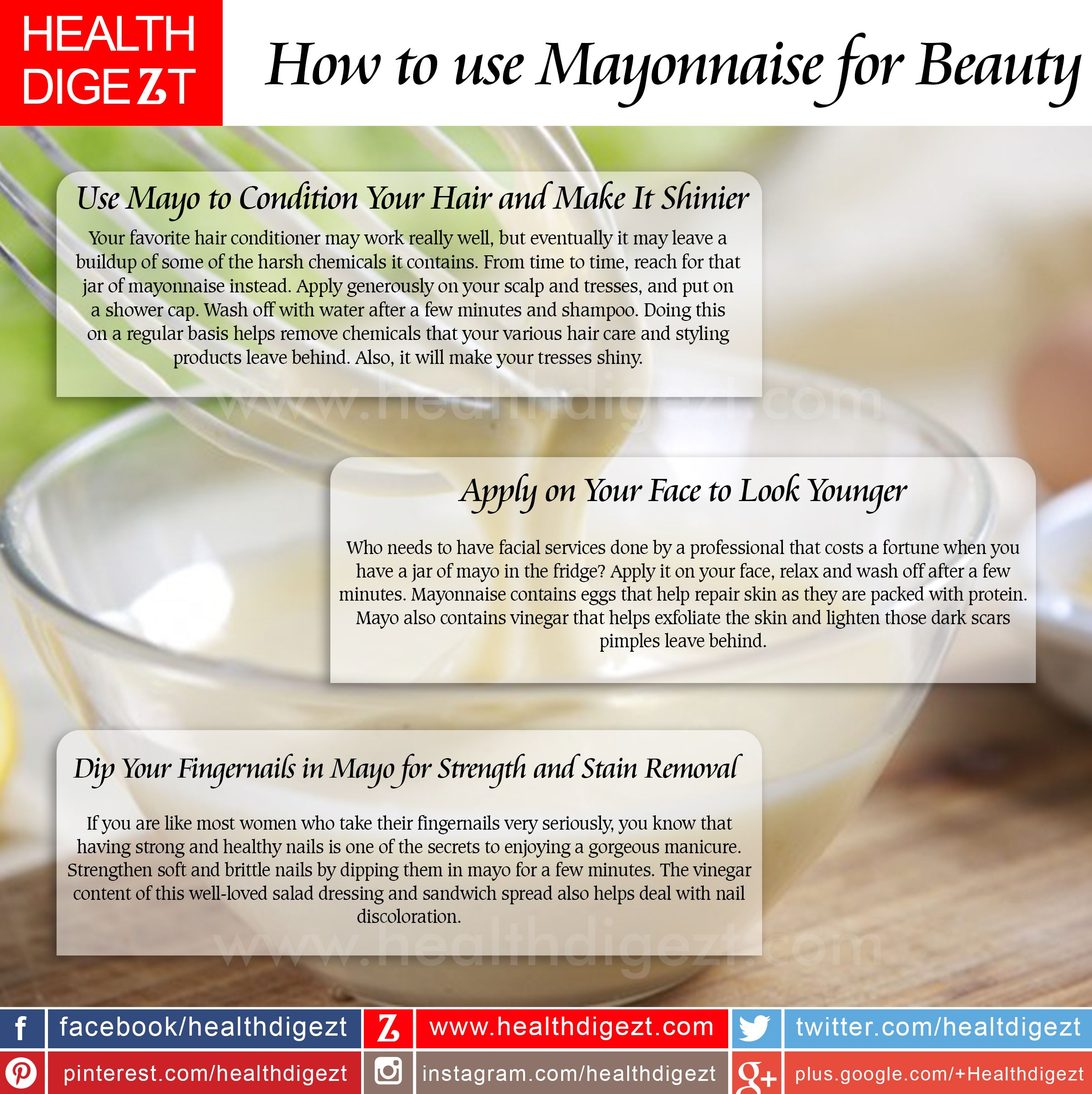 Beauty uses of mayo beauty tips pinterest