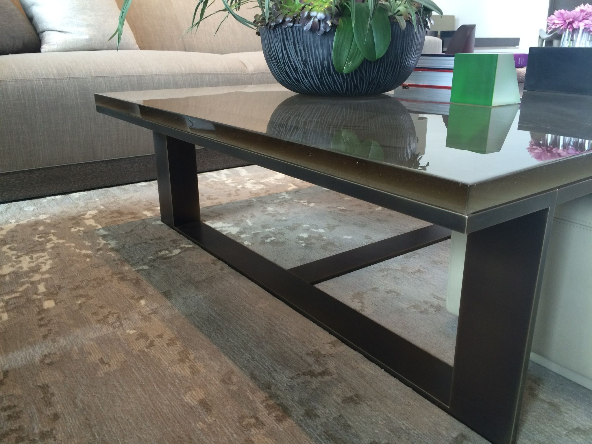 Dark Bronze And Cast Glass Coffee Table By Lucas Design Associates Living Room Coffee Table Coffee Table Decor