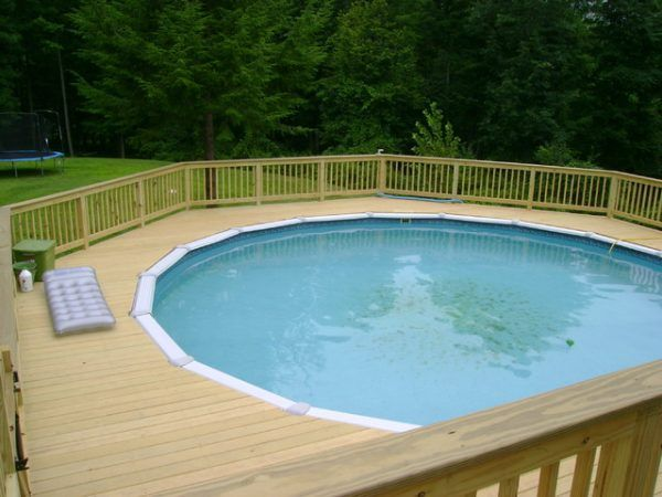 Image Of Astonishing Round Above Ground Pool Deck Kits With Sterns Top Coping Connecto Backyard Pool Landscaping Round Above Ground Pool Best Above Ground Pool