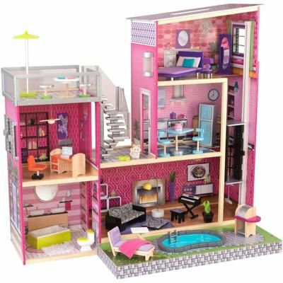 Maison De Poupee Uptown En Bois 120 6x64x117cm Maison De Poupee