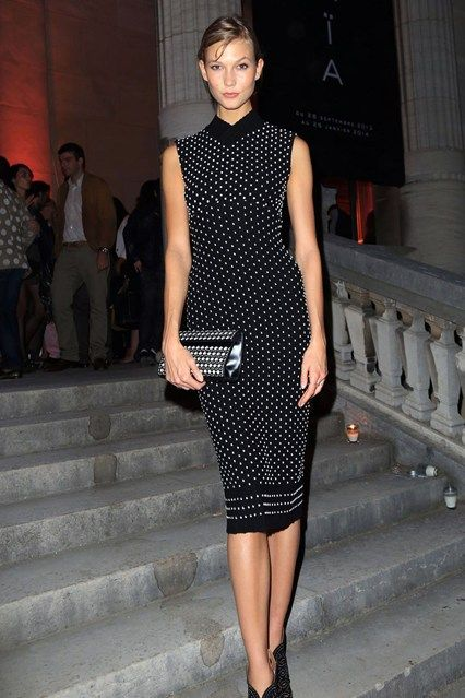 Azzedine Alaia exhibition opening, Musee Galliera, Paris - September 25  Karlie Kloss.