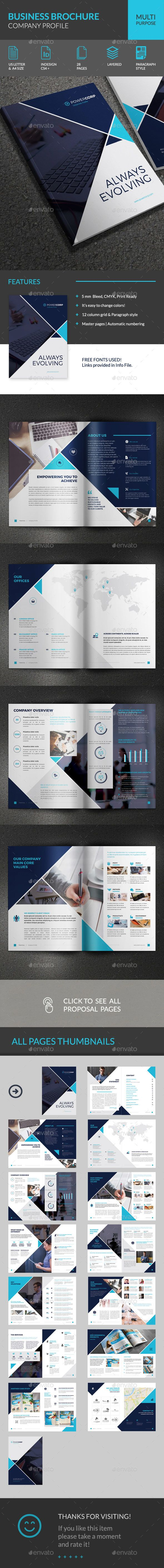 PowerCorp Business Brochure Corporate Profile – Corporate Profile Template