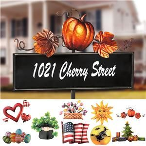 Welcome Sign with Seasonal Accent Toppers - want   Holiday ...