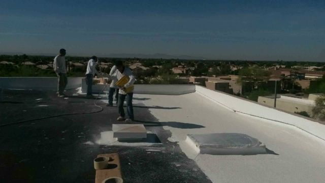 Roofers Add Foam In Phoenix Arizona Cool Roof Roofing
