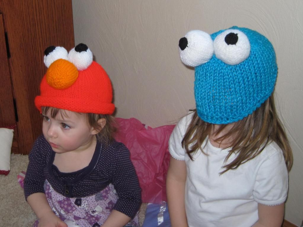 6 Name Knitting Elmo And Cookie Monster Knit Hats Knitting