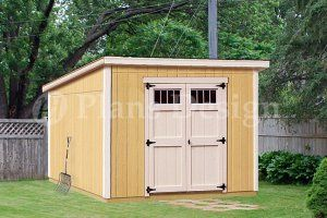 Storage Shed Designs | Storage Shed Plans, 8u0027 X 10u0027 Deluxe Modern Roof