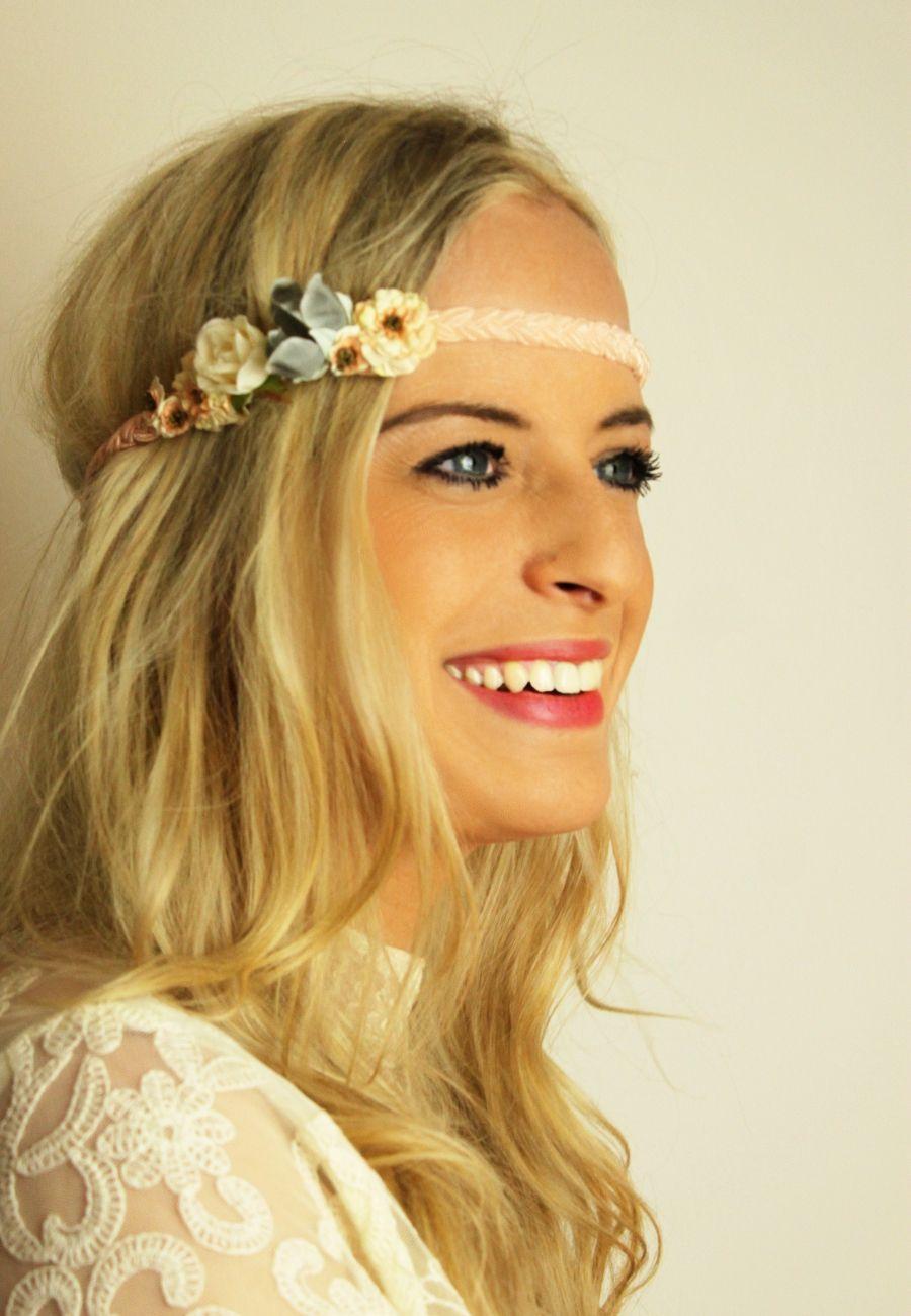 Geflochtenes Haarband Mit Blüten Little Bouquet Headband Flowers