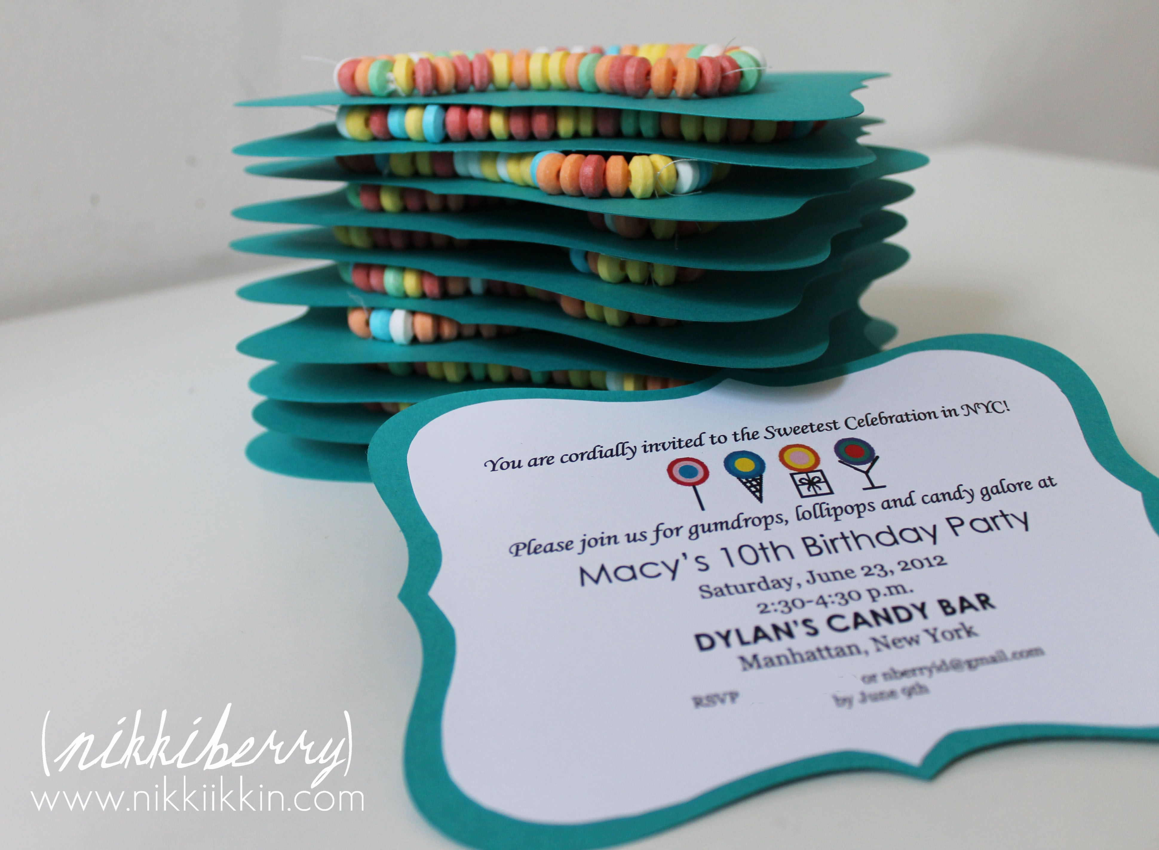 nikkiikkin dylan\'s candy bar invite 9 | My Work You\'ve Pinned ...