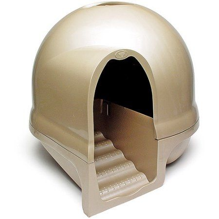 Booda Dome Clean Step Cat Litter Box Brushed Nickel Walmart Com Cat Litter Tray Litter Box Enclosure Cat Litter Box Furniture