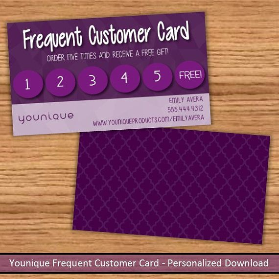 younique frequent customer loyalty card by nextlevelsolutions