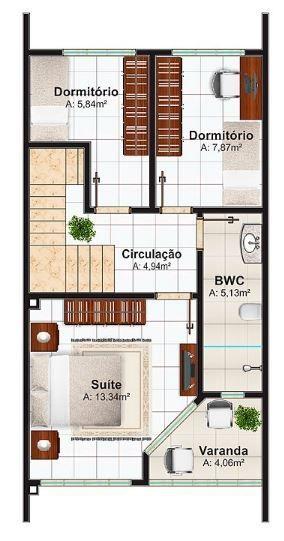 Modelos de duplex economicos de 3 dormitorios planos for Modelos de casas de 3 dormitorios