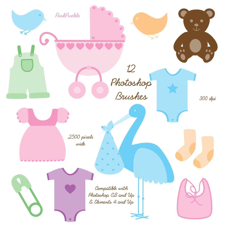 Baby Photoshop Brushes Commercial Use Baby Shower Photoshop Brushes