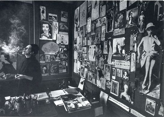 Diana Vreeland, shot by James Karales in her Vogue office, New York, 1965, at 62. Please note the photo of Maria Callas on the back wall.