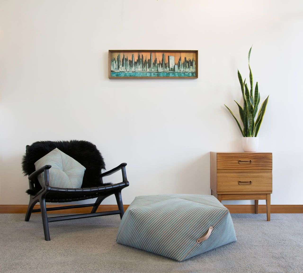 living room poufs%0A Geometric Poufs and Cushions by Kathryn Leah Payne