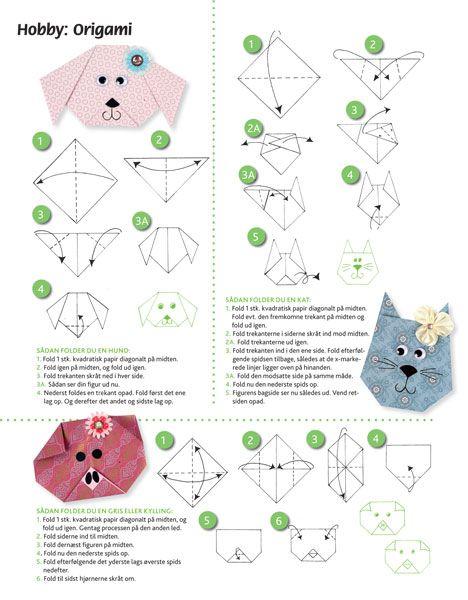 Origami Fold 3 Dejlige Dyr Hendes Verden Origami Dyr Kreativ