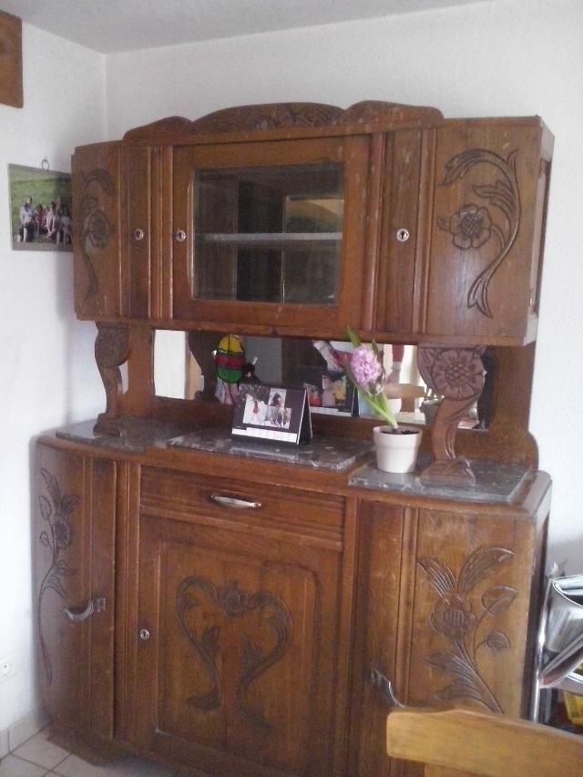 buffet de salle manger ann es 1930 meubles patin s relookes ou pas pinterest. Black Bedroom Furniture Sets. Home Design Ideas