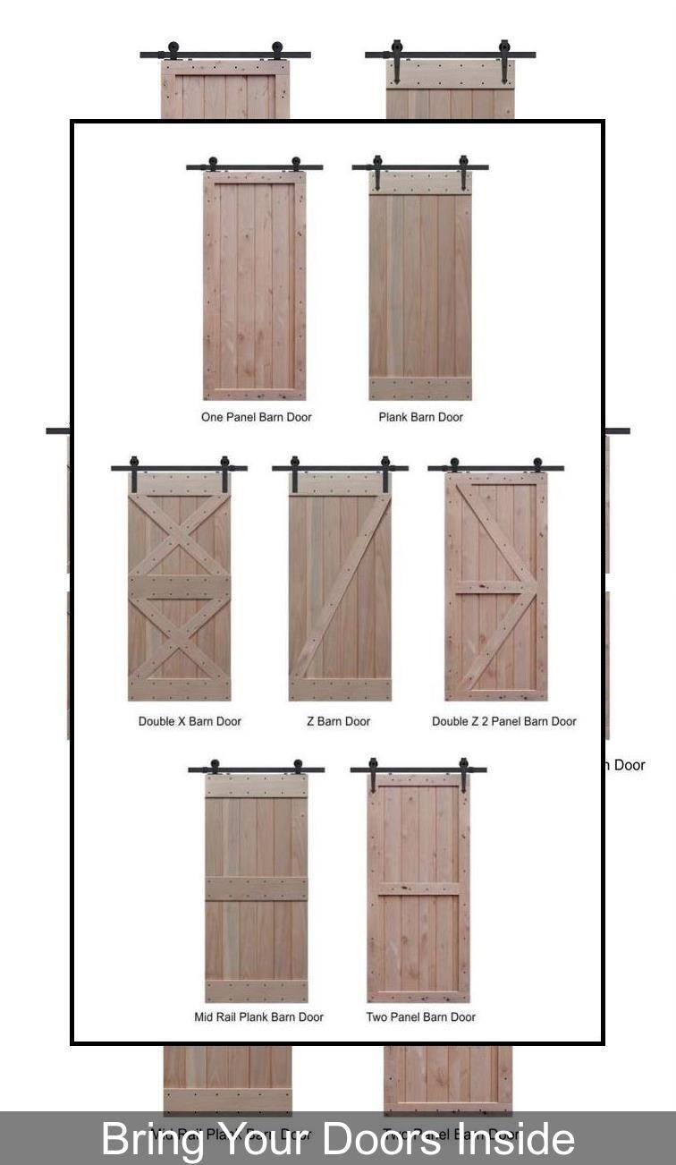 Rustic Interior Doors Residential Barn Door Hardware Big Sliding Barn Doors