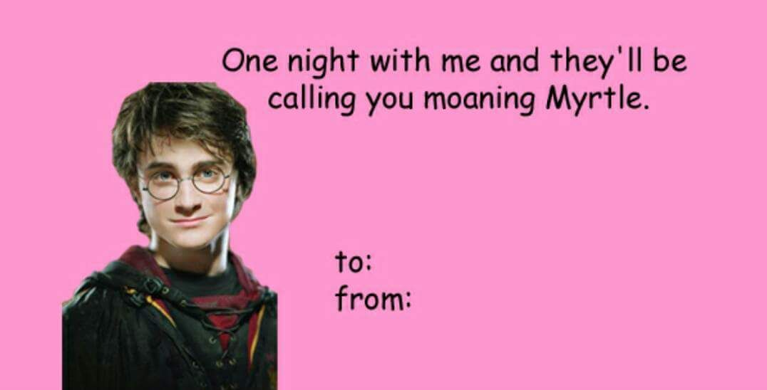 Harry Potter Valentine S Day Cards You Re Welcome Harry Potter Valentines Harry Potter Valentines Cards Valentines Memes