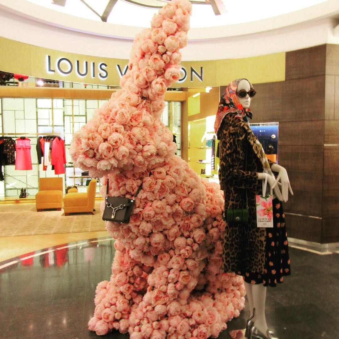 "PRINTEMPS, Paris, France, ""ALRIGHT!...so I became the Easter Bunny because I like hopping around town with a girly basket! Who are you to judge me!"", photo by Els Den Dekker, pinned by Ton van der Veer"