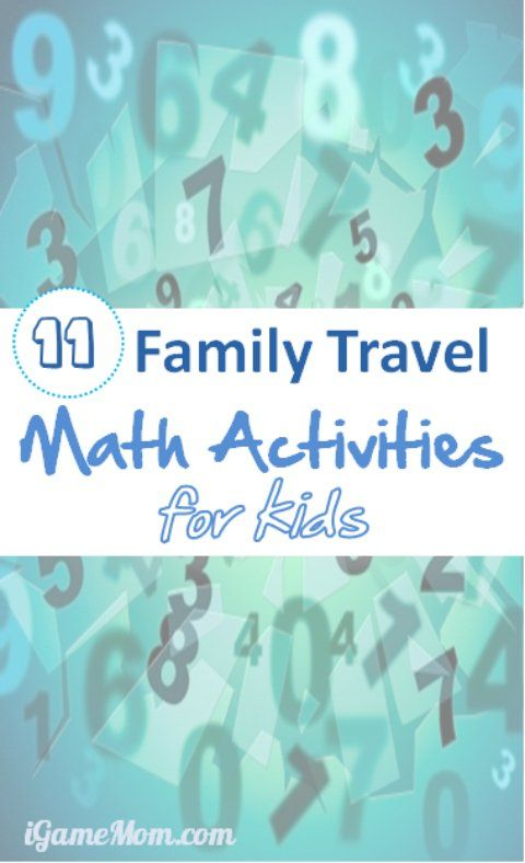 Math Activities for Family Vacation and Holiday Travels | Easy math ...