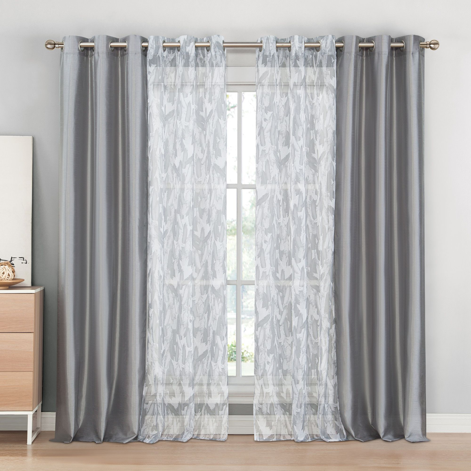 Solid Blackout Thermal Grommet Curtain Panels Set Of 2 Curtains Curtains With Blinds Panel Curtains