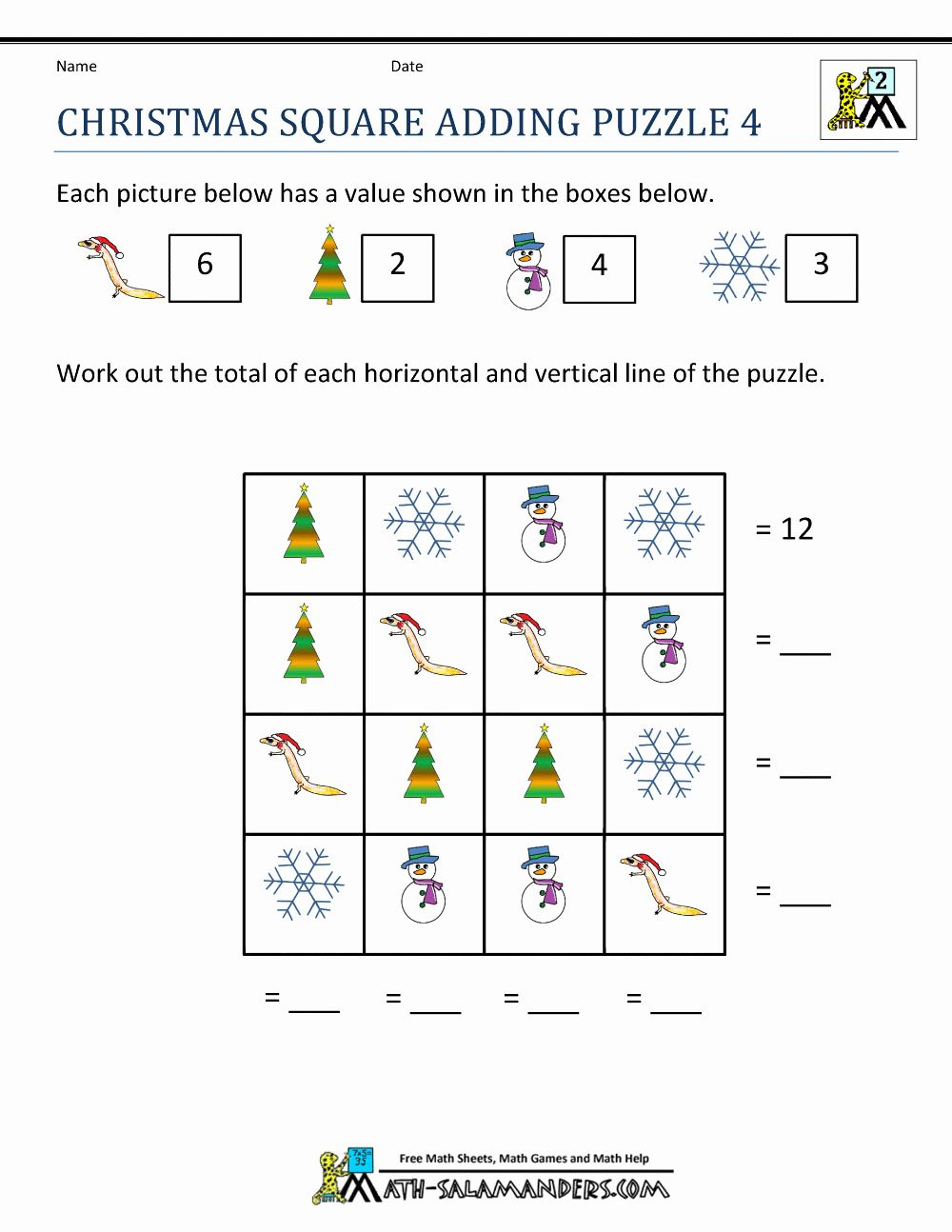 49+ Holiday math worksheets Info