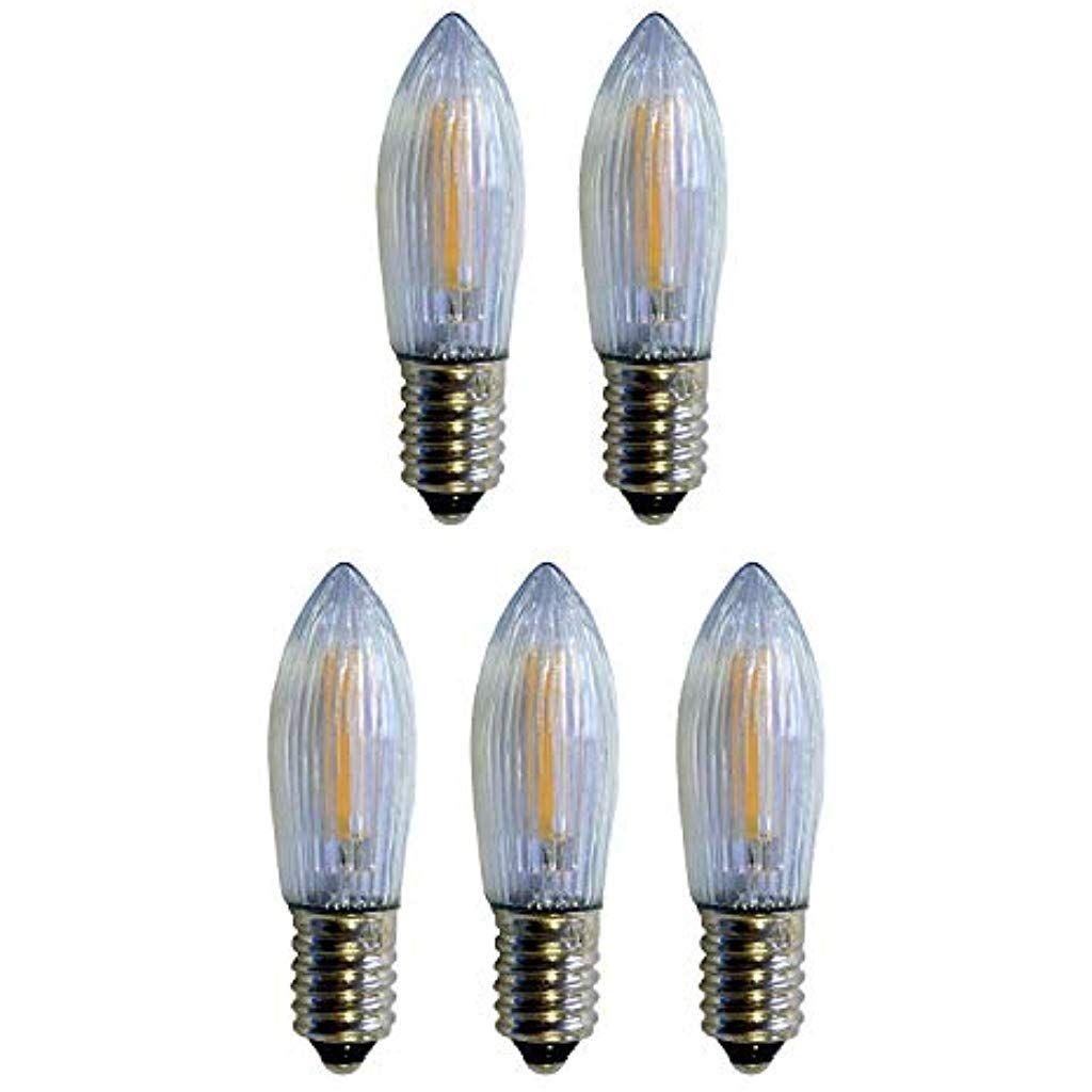 Auswahl 5 Stuck 24 Volt 01 Watt Filament Led Topkerze Riffelkerze Spitzschaftkerze Fur Innen Klar Fur 10 Brennstellen Bel Led Deckenbeleuchtung Kerzen