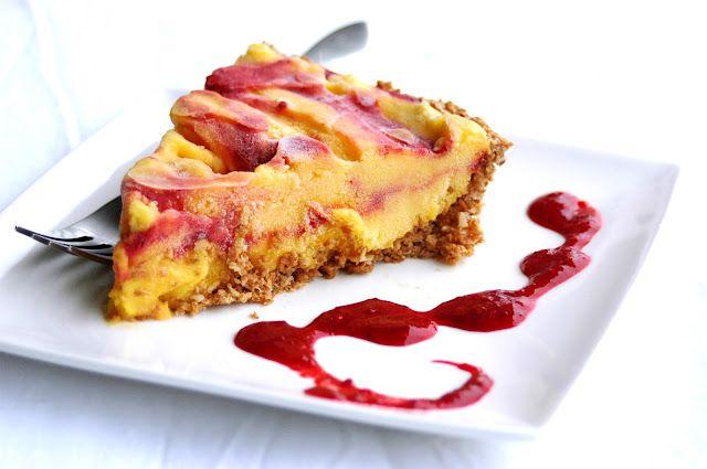 just-making-noise: Easy Mango Blackberry Swirl Ice Cream Pie {nut, dairy & grain-free crust!}