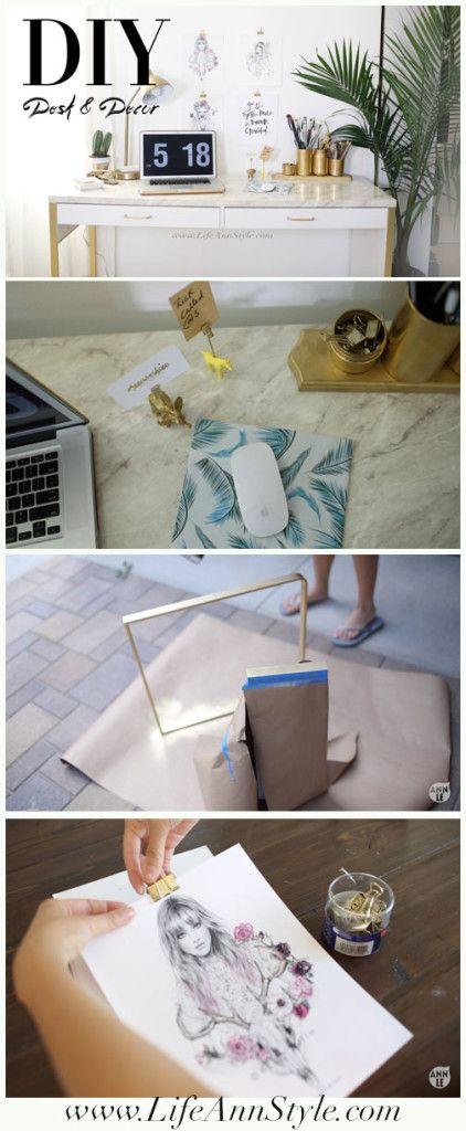 Ikea Marble Desk Hack Amp Easy Organization Diys Www