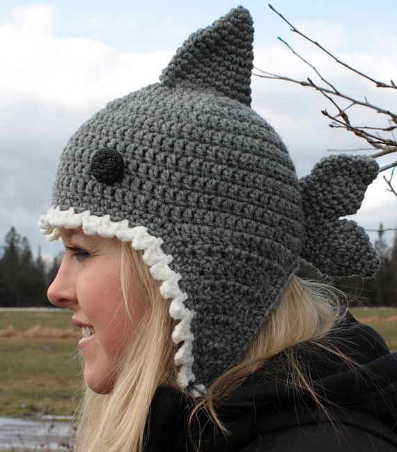very cute shark hat - not so sure I would wear this but cute for a ...