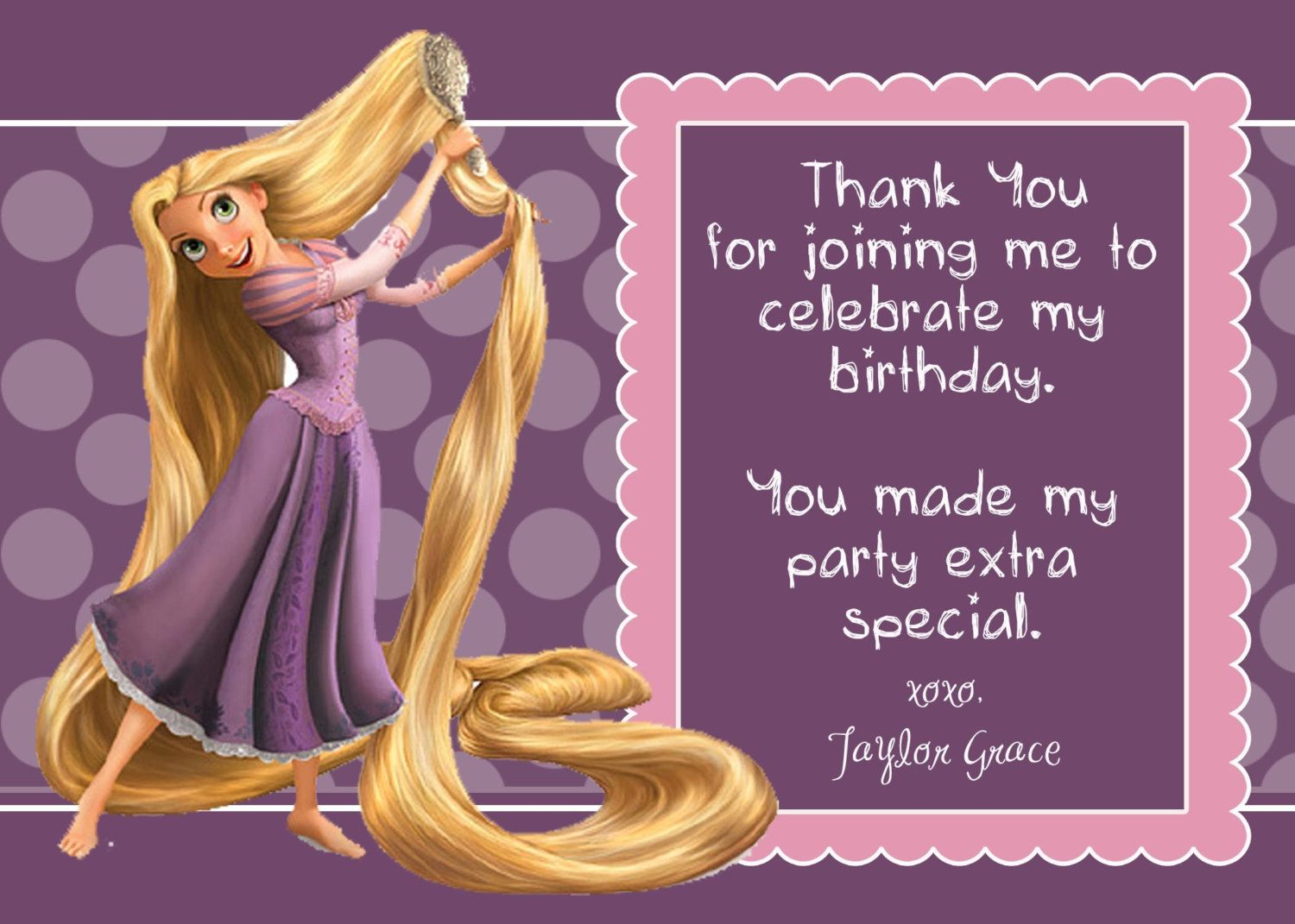 Rapunzel birthday card google search enredados fiesta rapunzel birthday card google search bookmarktalkfo Image collections