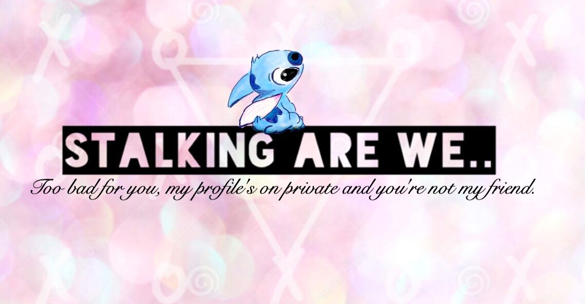 Stalking are we cover photo for Facebook with Stitch