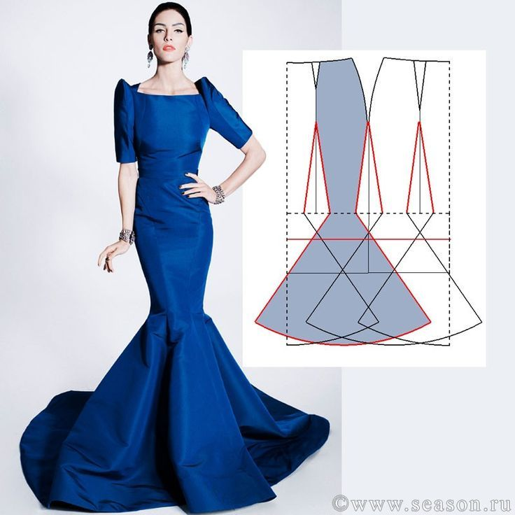 باترون AY Pinterest Sewing Dress Patterns And Pattern Classy Mermaid Dress Pattern